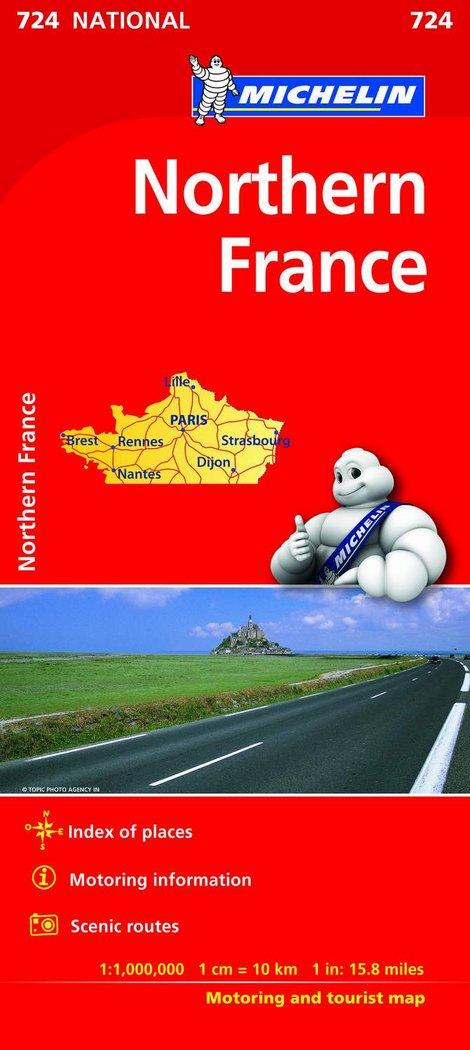 Mapa national francia norte
