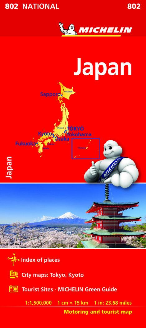 Mapa national japon 2018
