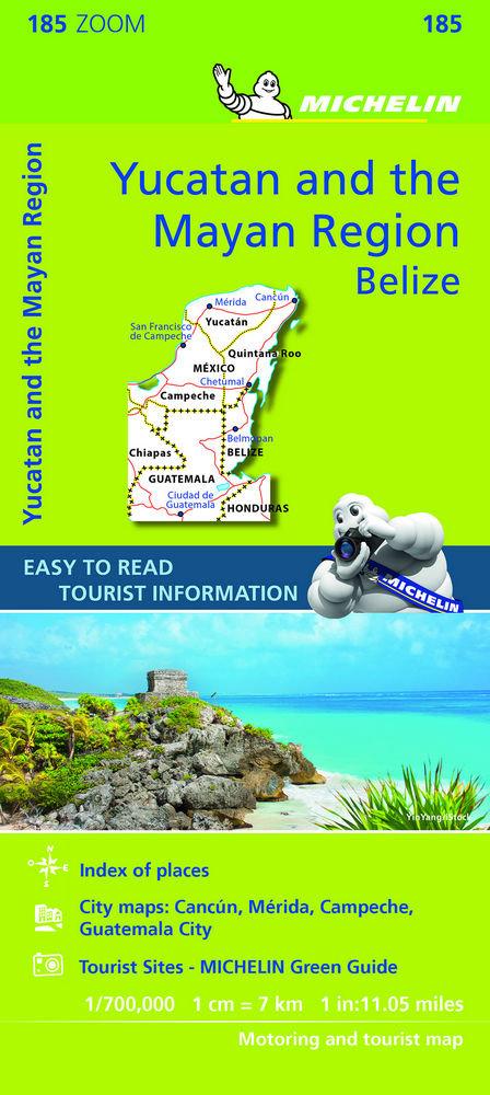 Mapa zoom yucatan y pais maya