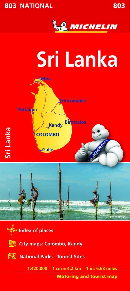 Mapa national sri lanka
