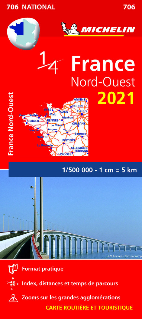Mapa national francia nord ouest 2021