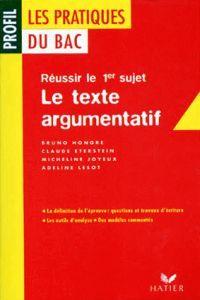 Texte argumentatif