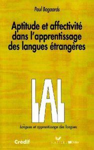 Aptitudes et affectivite dans lapprentissage des languages