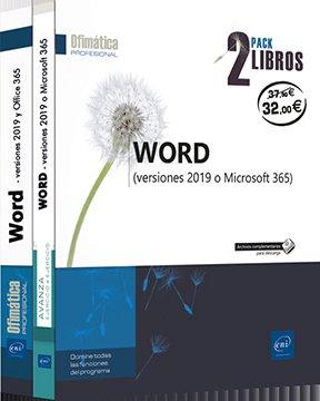 Pack 2 libros word versiones 2019 y office 365