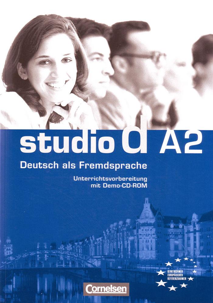 Studio d a2 libro profesor +dvd