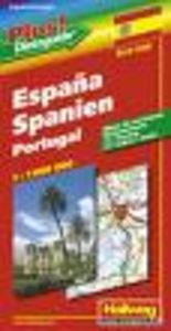 España portugal mapa carreteras hallwag