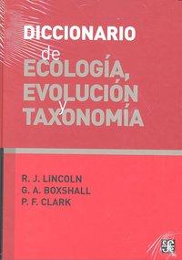 Diccionario de ecologia evolucion y taxonomia