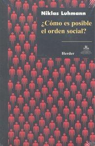 Como es posible el orden social