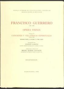 Opera omnia. tomo ii. canciones y villanescas espirituales.