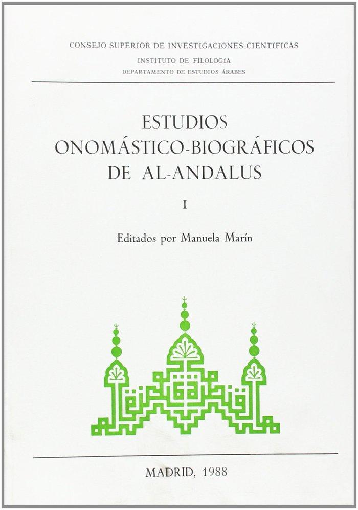 Estudios onomastico-biograficos de al-andalus. vol. i