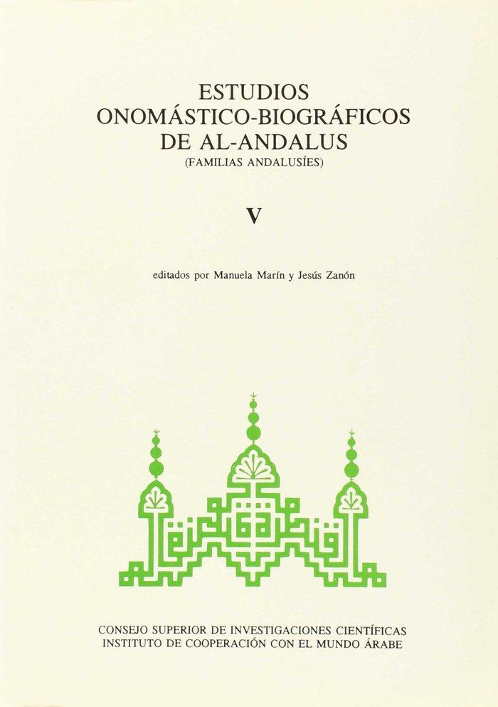 Estudios onomasticos v biograficos de al andalus