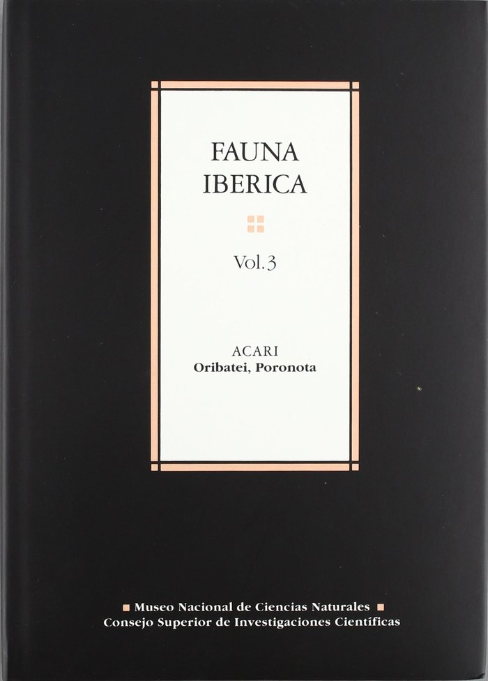 Fauna iberica 3 acari