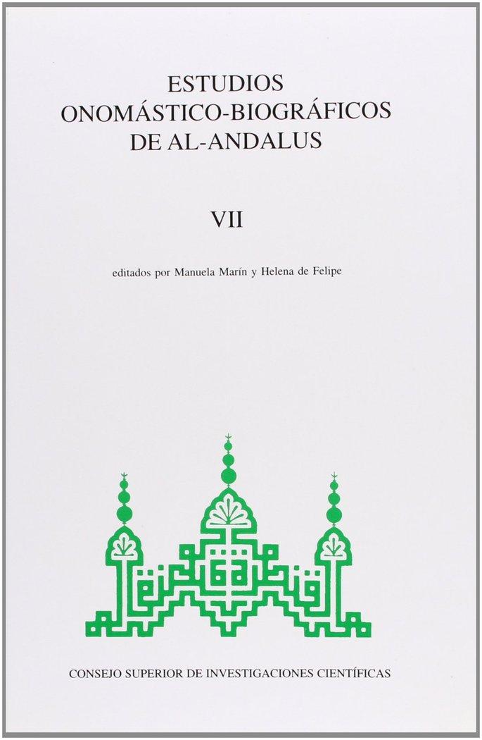 Estudios onomasticos vii al andalus