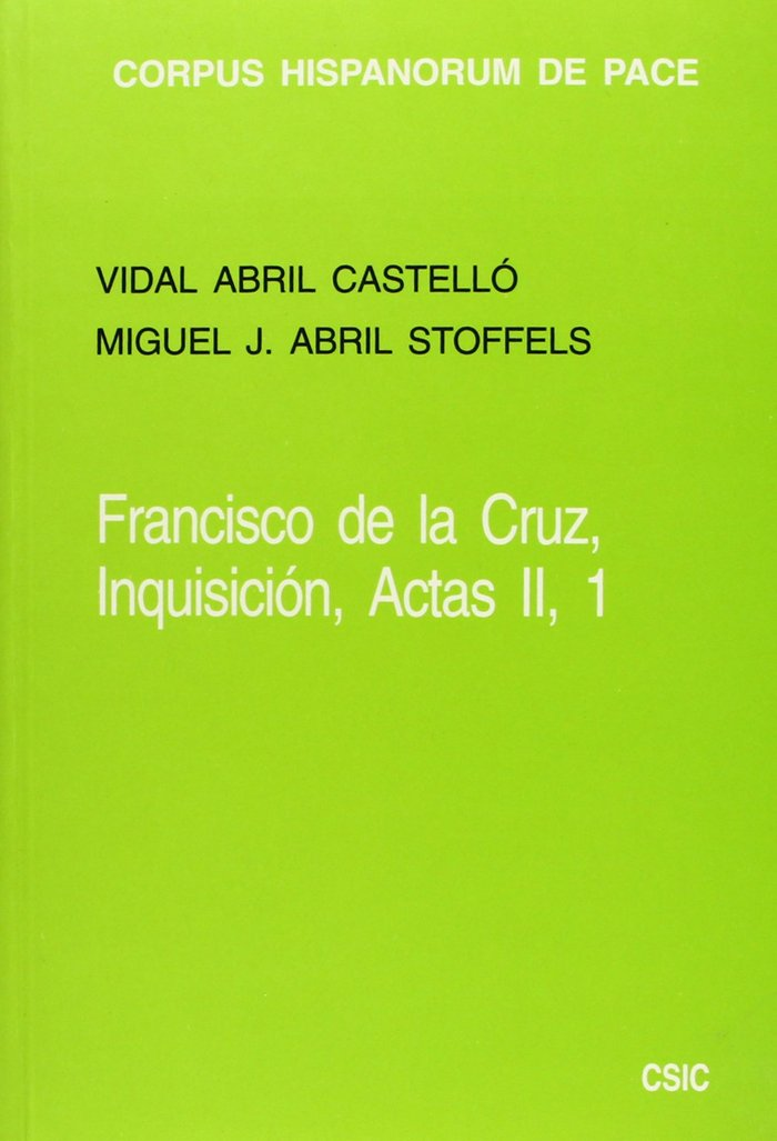 Francisco de la cruz inquisicion ii.1