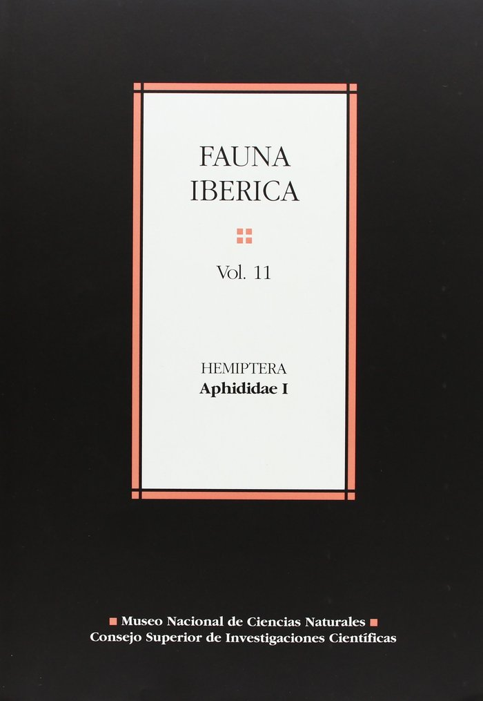 Fauna iberica 11 hemiptera aphididae i