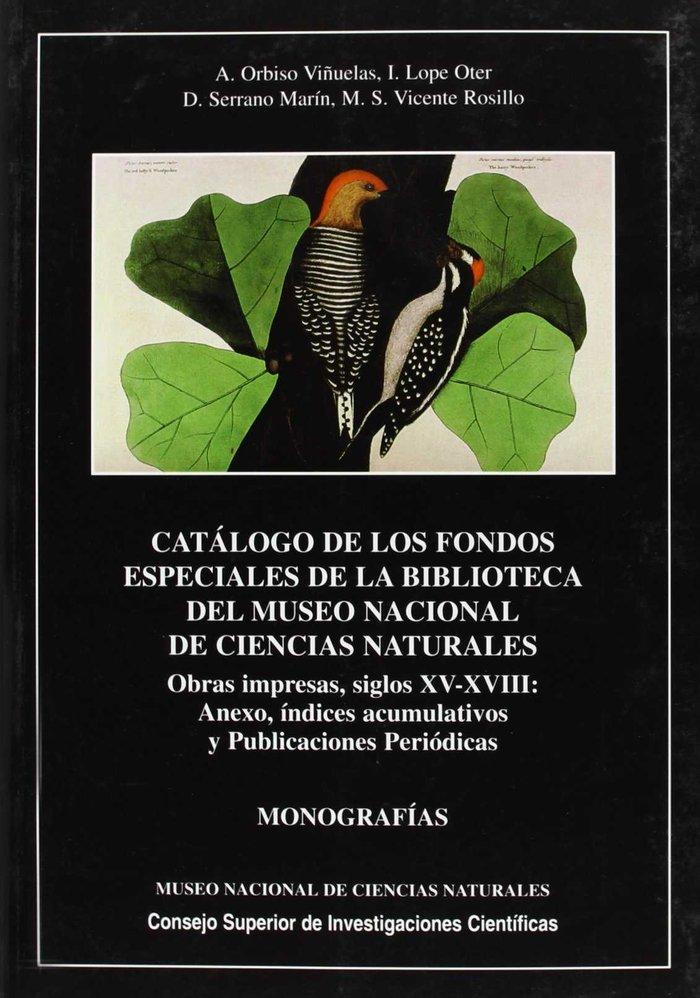 Catalogo de los fondos especiales de la biblioteca del museo