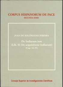 De indiarum iure. liber i. de inquisitione indiarum