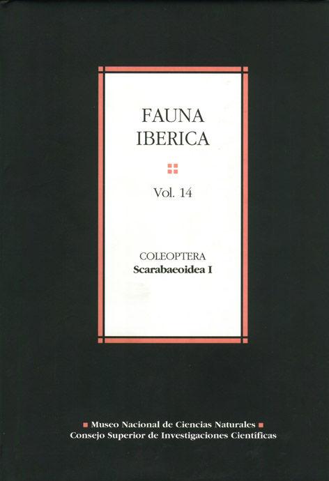 Fauna iberica 14 coleoptera scarabaepidea i