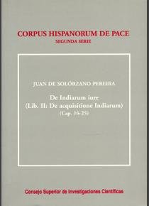 De indiarum iure. liber ii/2. de acquisitione indiarum (caps