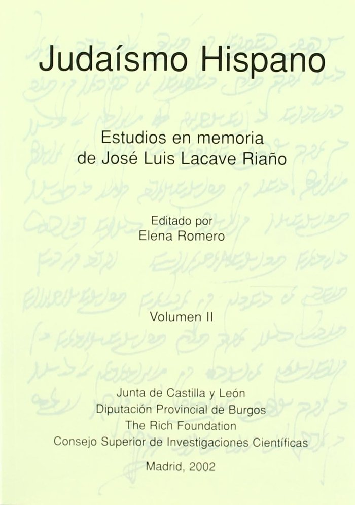 Judaismo hispano estudios en memoria 2 vol