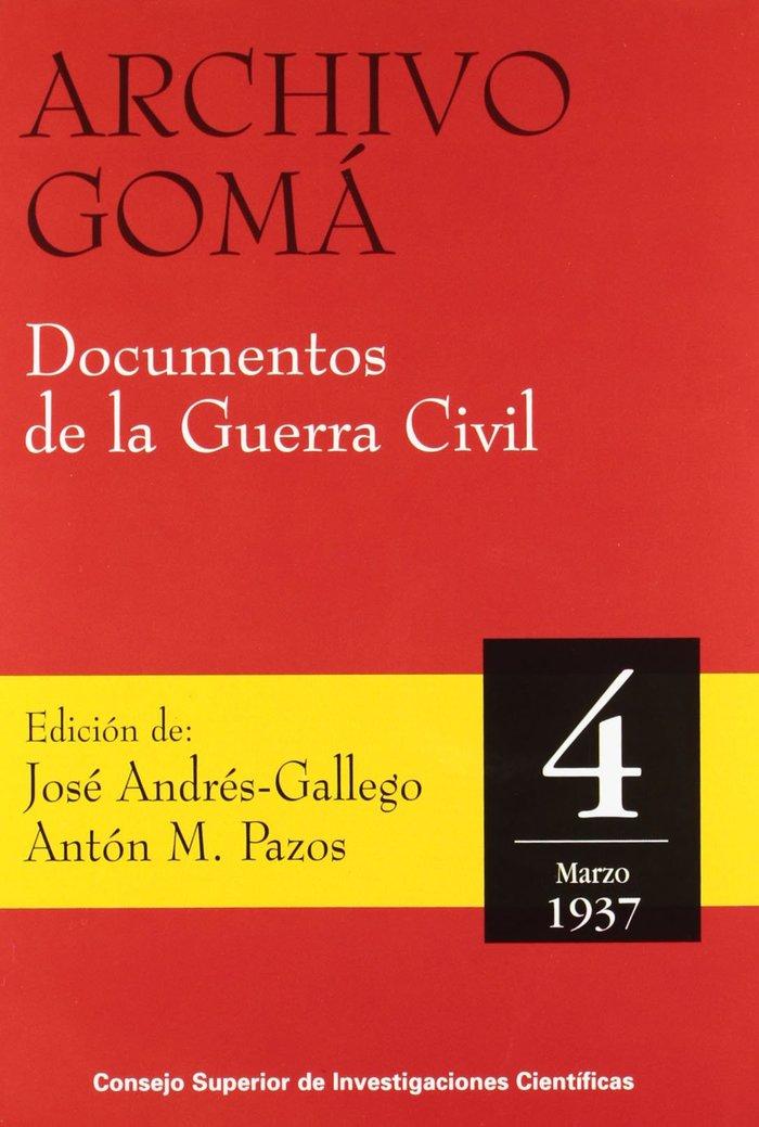 Archivo goma documentos guerra civil 4 marzo 1937