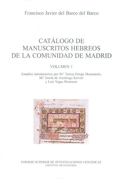 Catalogo manuscritos hebreos i comunidad madrid