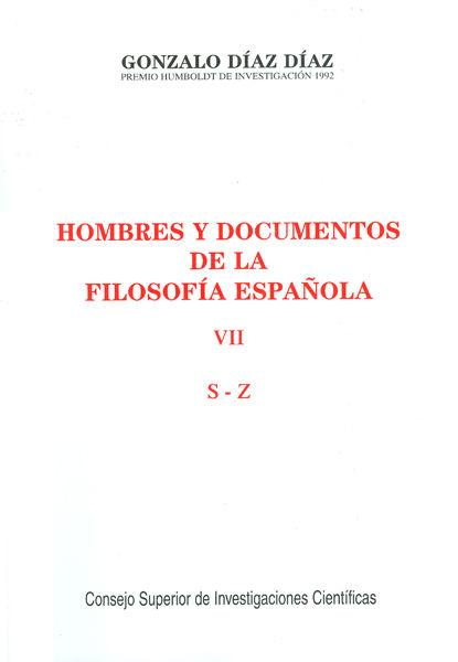 Hombres documentos filosofia española vii s-z