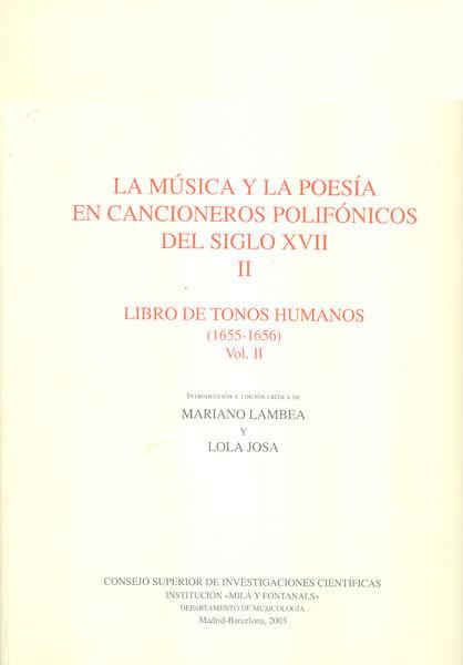 Musica y la poesia cancioneros polifonicos ii tonos humanoii