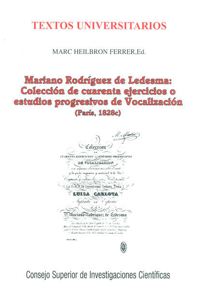 Mariano rodriguez de ledesma vocalizacion paris 1828