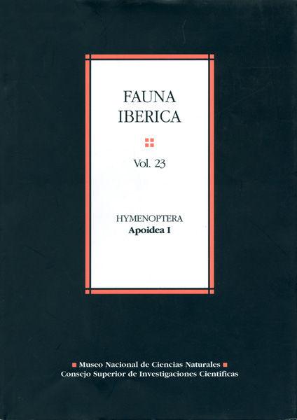 Fauna iberica 23 hymenoptera apoidea i