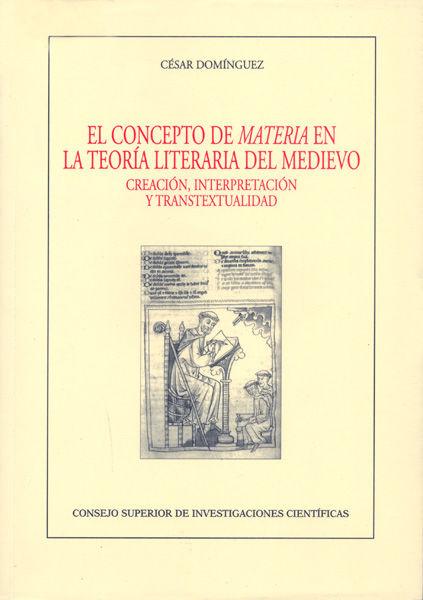 Concepto de materia en la teoria literaria del medioevo,el