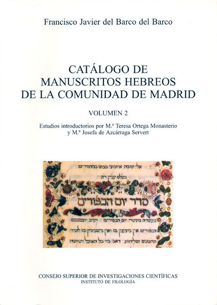 Catalogo manuscritos hebreos vol ii comunidad de madrid