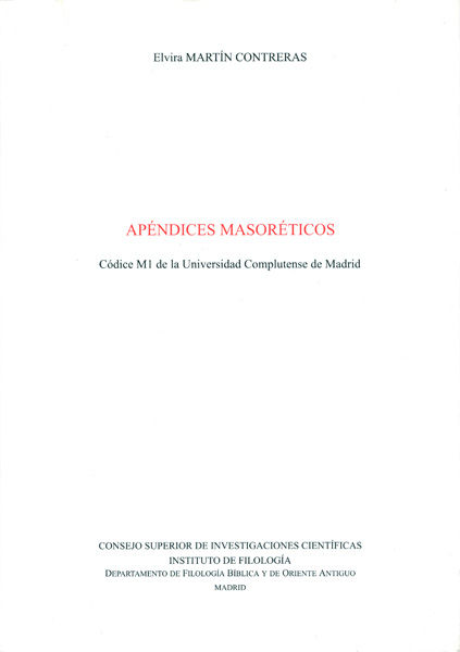 Apendices masoreticos