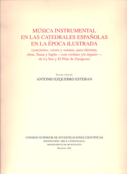 Musica instrumentalen catedrales españolas epoca ilustrada