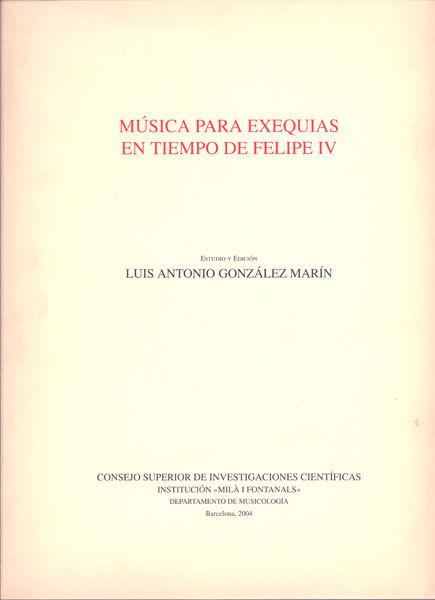 Musica para exequias en tiempo de felipe iv