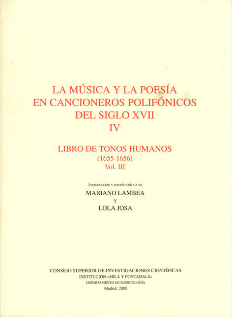 Musica y la poesia cancioneros polifonicos iv siglo xvii