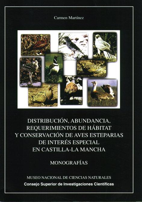 Distribuccion abundancia requerimientos habitat aves estepar