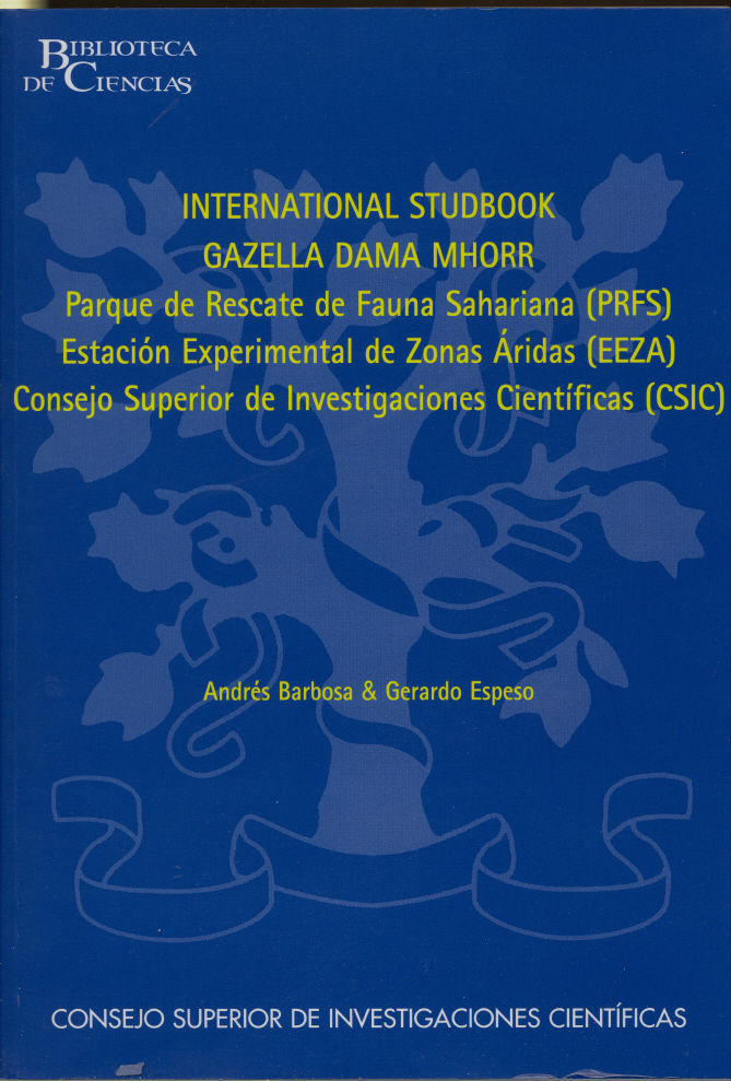 International studbook gazella dama mhorr