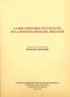 Misa policoral en cataluña 2ªmitad del siglo xvii