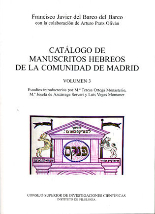 Catalogo manuscritos hebreos vol.3 comunidad madrid