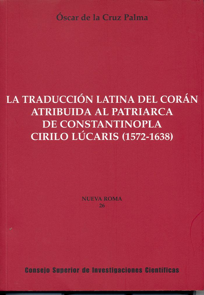Traduccion latina del coran atribuida al patriarca