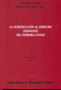 Int.al derecho (eisagoge) del patriarca focio