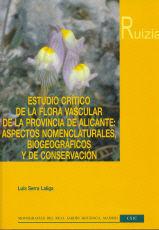 Estudio critico flora vascular provincia alicante