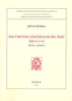 Documentos linguisticos del peru