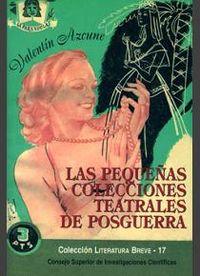 Pequeñas colecciones teatrales de posguerra,las