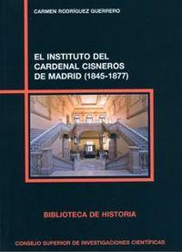 Instituto del cardenal cisneros de madrid (1845-1877),el