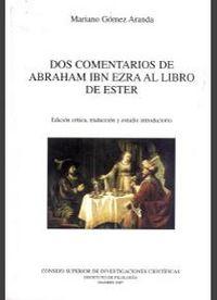 Dos comentarios de abraham ibn ezra al libro de ester