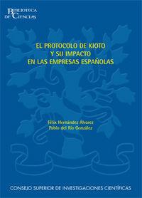 Protocolo de kioto y su impacto en las empresas españolas,el