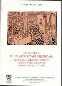 L'obrador d'un apotecari medieval segons el llibre de compte