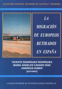 Migracion de europeos retirados en españa,la
